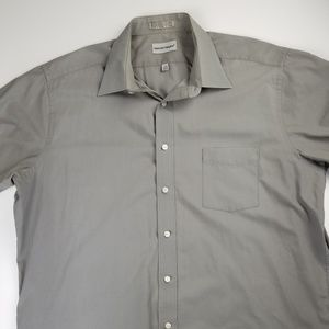 David Taylor Mens Button Down Short Sleeve